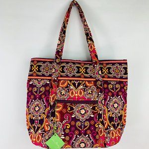 Vera Bradley Safari Sunset Fabric Tote Bag